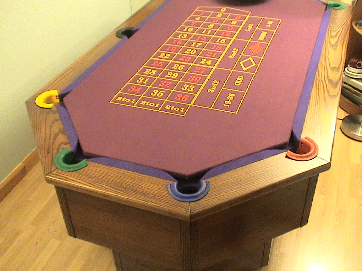 Octapool Table with Roulette insert