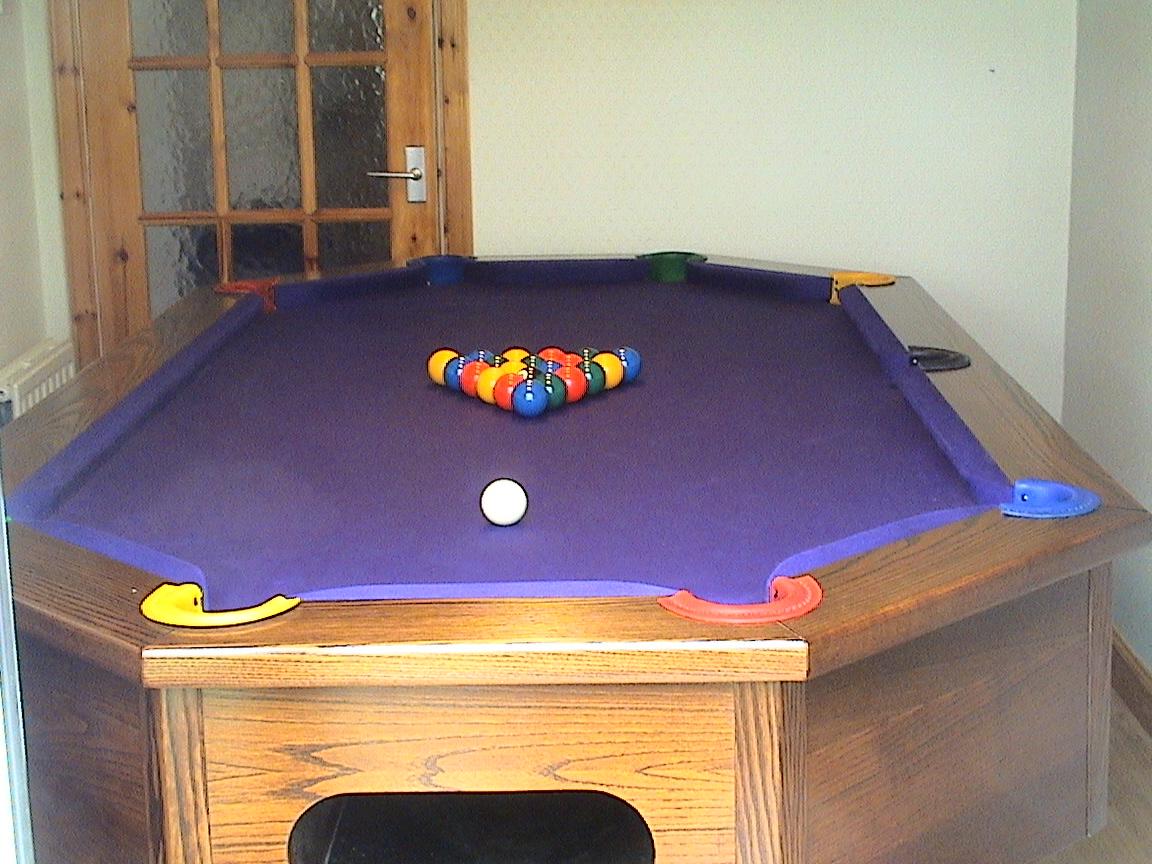 Octapool Table aand Balls