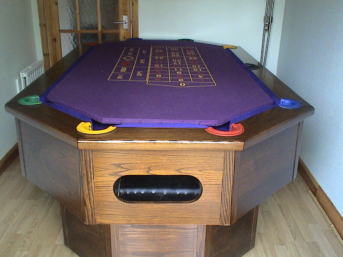 Octapool Table with ball return pocket